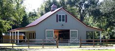 Horse barns with living quarters horse barns with living for Cost of building a horse barn