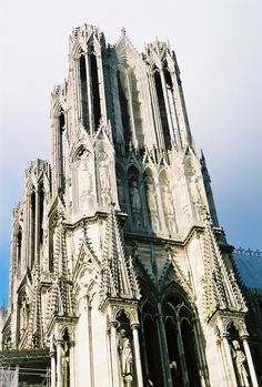 Reims Cathedral in Reims, France  Truly the ultimate in High Gothic Architecture