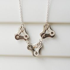 Delta 3 Bicycle Necklace by KatiesBike on Etsy