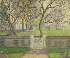 Collections: Paintings Collection: Browse- Ashmolean Museum:  Lucien Pissarro (1863 - 1944) The Garden Gate, Epping