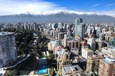 Aerial view of financial district at Santiago de Chile. Amazing Destinations, Travel Destinations, Cities In South America, Latin America, South American Countries, Packing List For Travel, Best Places To Travel, Travel Alone, Aerial View