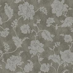 In the Jacobean style, peonies trail without ceasing on this lovely wallcovering. Mid-size flowers ramble over the mottled field. The background features the fibrous look of handmade paper with metallic gleam while the design is printed in textural raised inks.