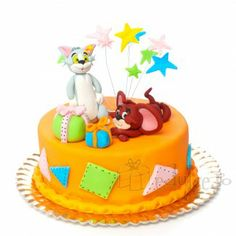Tom si Jerry in varianta dulce Tom E Jerry, Toms, Birthday Cake, Children, Desserts, Design, Party, Sweets, Young Children