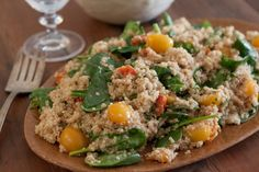 A healthy and colorful Quinoa Salad with Roasted Tomatoes
