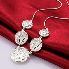 N696 plata sellada 925 plateado bellas moda collar cadenas de los colgantes, plata sellada 925 plateado alrededor de collar sjfl lglx