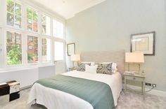 green & grey - Grey, bedroom ideas - Home Interior & Design Inspiration - Foxtons