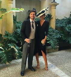 Hochzeit Malu und Fernando 👰🎩 💙 - Every Non Wedding Guest Style, Wedding Looks, Wedding Styles, Wedding Hats For Guests, Nice Dresses, Short Dresses, Royal Clothing, Stylish Couple, Races Fashion