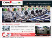Layout de Site Criado para a Empresa Ideal Maqbord #criative #site #criacaodesites #bordados #agencia #comunicacaovisual www.visiondesign.com.br