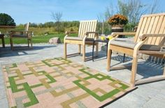 Outdoor quality area rugs and mats for patios, porches, entryways… Patio Rugs, Outdoor Rugs, Rugs And Mats, Vintage Campers, Area Rugs, Entryway, Home Decor, Courtyards, Transitional Outdoor Rugs