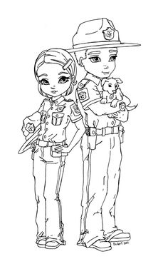Part of the Everyday Heroes Cutie Pie serie [link] This lineart was commissioned by To see more Cutie Pie : [link] State Troopers Emoji Coloring Pages, Blank Coloring Pages, Coloring Sheets, Adult Coloring, Coloring Books, Fairy Coloring, Digital Stamps Free, Dragon, Cute Animal Drawings