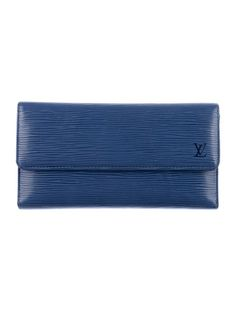 Feeling Blue: Louis Vuitton International Epi Wallet.