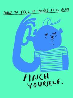 Nick Alston - Illustration pinch yourself