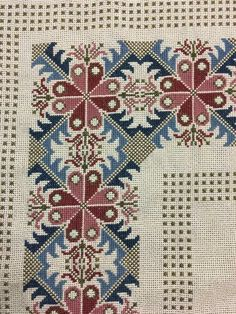 The border pattern Cross Stitch Borders, Cross Stitch Flowers, Cross Stitch Designs, Cross Stitching, Cross Stitch Patterns, Ribbon Embroidery, Cross Stitch Embroidery, Embroidery Patterns, Bordados Tambour