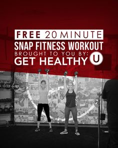Looking for a quick, but effective workout that you can do at your local Snap Fitness? Check out this FREE workout that Chris Freytag, from Get Healthy U, partnered with us to create! 20 Minute Workout, Health Motivation, Get Healthy, You Can Do, Workouts, Create, Link, Fitness, Check