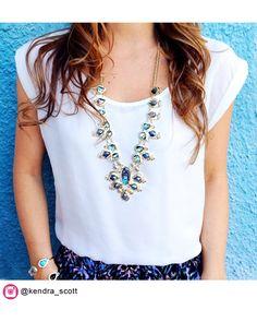 Tedi Long Necklace in Abalone Gypsy - Kendra Scott Jewelry