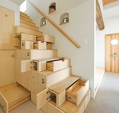 """Share"" if this staircase has more storage than your closet!  Dustin Peyser DustinPeyser.com DustinPeyser@kw.com San Diego County Realtor"
