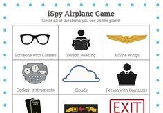Airplane ISpy game- fun free printable to keep kids occupied on the airplane!