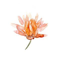 Lotus schilderij Aquarel Lotus Bloem Giclee print op door Zendrawing, €15.50