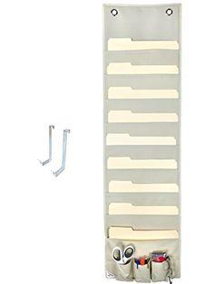 Hanging File Folder Holder Cascading Fabric Organizer  Pocket