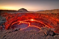 The Lava Lake of the Continuously Active Volcano Erta Ale, Ethiopia