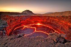 The Lava Lake of the Continuously Active Volcano Erta Ale, Ethiopia