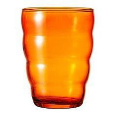 Ikea orange glass