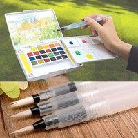 // Set Water Brush Ink Watercolor Calligraphy Painting Pilot EL S + L + M