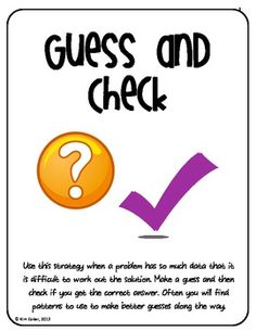 MATH Strategy Problem Solving Posters, Word Problems, and