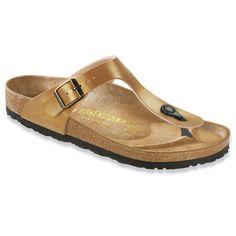 Gold Gizeh Birko-Flor Thong Sandal by Birkenstock