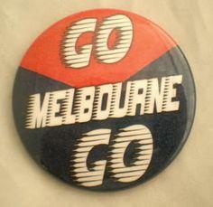 Go Melbourne Go  Pin Pin Badges, Melbourne, Football, Club, Red, Life, Soccer, Futbol, American Football