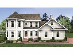 Home Plans HOMEPW03060 - 1,897 Square Feet, 4 Bedroom 3 Bathroom Country Home with 3 Garage Bays