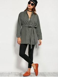 GET $50 NOW | Join RoseGal: Get YOUR $50 NOW!http://www.rosegal.com/coats/wrap-front-trench-coat-859095.html?seid=6906459rg859095