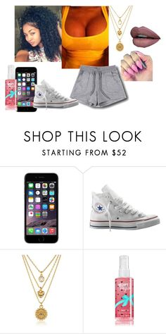 """Untitled #1388"" by jadahawkins ❤ liked on Polyvore featuring My Mum Made It, Converse, Juicy Couture, women's clothing, women, female, woman, misses and juniors"