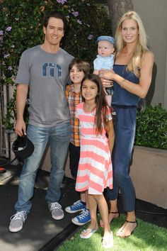Mark-Paul Gosselaar has the cutest family! Zack Morris definitely turned into one adorable dad.