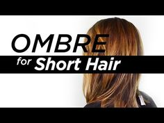 Best ombré for short hair tutorial | Nam Nguyen - How To: Ombre your Hair/Balayage for Short Hair - YouTube