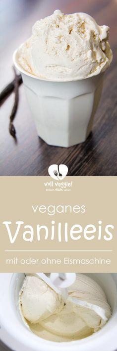 Vanilleeis geht immer und ist wohl der Klassiker schlechthin! Und dieses vegane Vanilleeis erst recht, denn es ist so wunderbar cremig und sahnig und bleibt auch nach dem Einfrieren richtig schön zart – und das alles ganz ohne Milch- und Eiprodukte. Vegan eben! Und so zart wie gekauftes Eis – mit oder ohne Eismaschine.