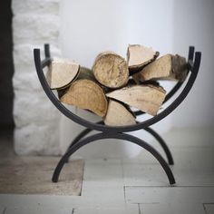 Wrought Iron Log Holder - fireplace accessories