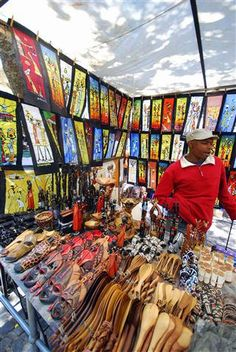 Cape Town, Green Market Square - great for curio hunting. Beautiful Places To Visit, Oh The Places You'll Go, Living Off The Land, Africa Travel, Bucket Lists, Heartbeat, Cape Town, Spoons, South Africa