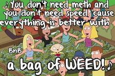 All u need is a bag of weed
