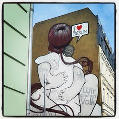 LEINWAND I Love Berlin (ab)20x20cm Streetart von STREET ♥ HEART - Finest streetart from berlin auf DaWanda.com