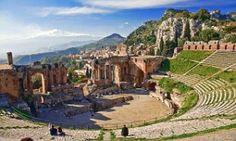 The Teatro Greco in Taormina, Sicily