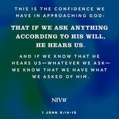 NIV Verse of the Day: 1 John 5:14-15