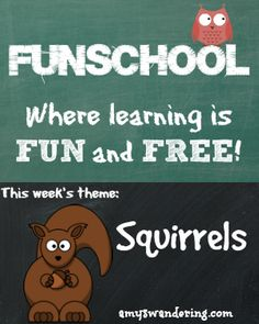 Free lesson plans, websites, and printables for learning about Squirrels