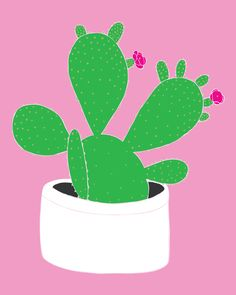Quirky Cactus Print, From Baba Souk