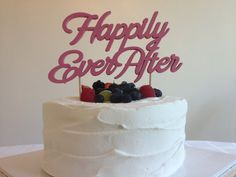 Happily Ever After  Classic Wedding Cake Topper by CaroandCoco, #caketopper #wedding