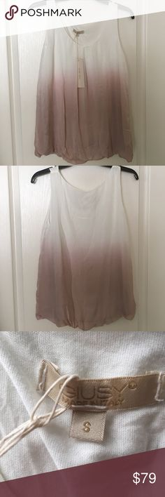NWT Ombre Silk top size S made in Italy 🇮🇹 NWT Silk top size S made in Italy 🇮🇹 Giusy Tops Tank Tops