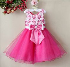 Wholesale cheap baby dress online, sleeveless - Find best hot pink lace baby girls 2012 tutu christmas pageant dresses With bow children ball petti skirt kids at discount prices from Chinese children's dresses supplier on . Baby Girl Party Dresses, Toddler Girl Dresses, Baby Dress, Frocks For Girls, Kids Frocks, Little Girl Dresses, Girls Dresses, Flower Girl Dresses, Flower Girls