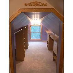 8 Stupendous Ideas: Attic Apartment Industrial attic interior walk in.Attic Flat Tvs old attic window.Attic Before And After Country Living. Attic Closet, Closet Bedroom, Walk In Closet, Closet Library, Attic House, Attic Playroom, Closet Space, Attic Renovation, Attic Remodel