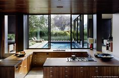 amazing kitchen integrated with outside spaces