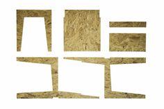 CHAISE OSB-12. Conception et construction d'une chaise: École nationale supérieure d'architecture et de paysage de Lille, France. © Marc-Antoine Viel (2013) Lille France, 2013, Construction, Architecture, Home Decor, Chair, Landscape, Projects, Arquitetura